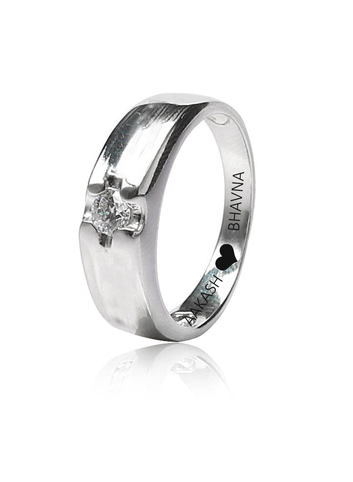 286cfc48f0 Buy Online India Engraved Love Promise Silver Band Ring for Gifting –  LeCalla.in