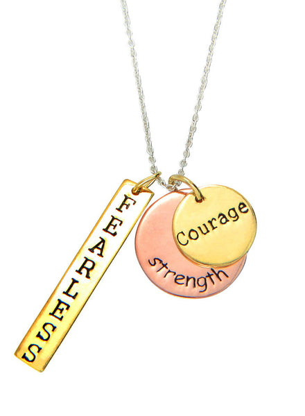 Personalized Engraving Multi Charm Necklace - LeCalla Sterling Silver