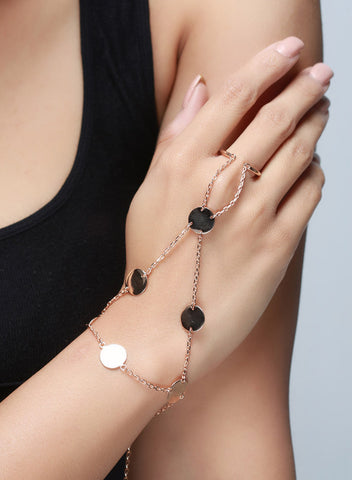 Disc Rose Gold Hand Harness