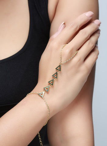 Triangle Links Hand Harness - Brass - LeCalla