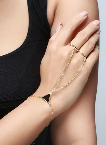 Two Rings Hand Harness - Brass - LeCalla