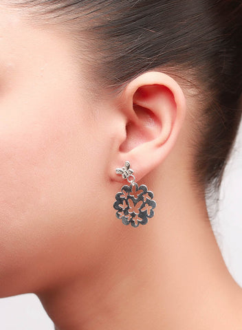 Butterfly Cluster Dangler Earrings - Sterling Silver - LeCalla