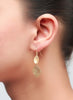 Shimmery Gold Dangler Earring - Sterling Silver - LeCalla