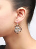 Italian Rose Dangler Earrings - Sterling Silver - LeCalla