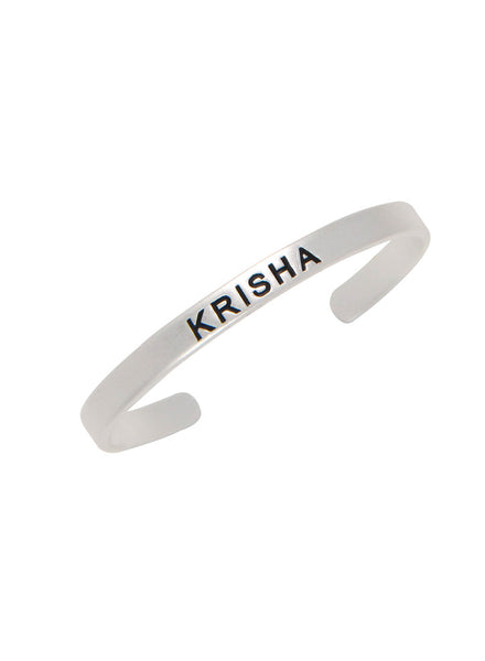 Engraved baby silver bangle for gifting - Sterling Silver - LeCalla