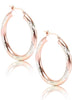 Sparkling Star Hoop Earrings - Sterling Silver - LeCalla
