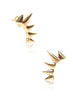 Spike Ear Crawlers Stud Earrings - Sterling Silver - LeCalla