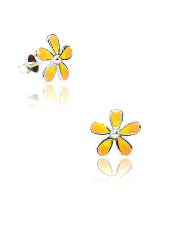 Flower Power Stud Earring - Sterling Silver - LeCalla