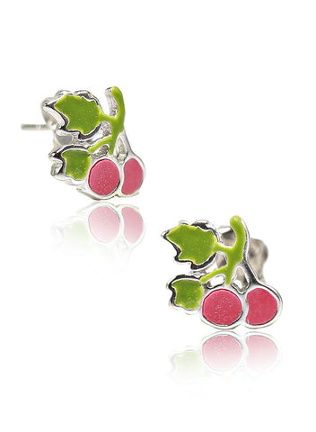 Cherry Blossom Studs - Sterling Silver - LeCalla