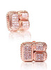 Royale Beauty Rose Gold Stud Earrings - Sterling Silver - LeCalla