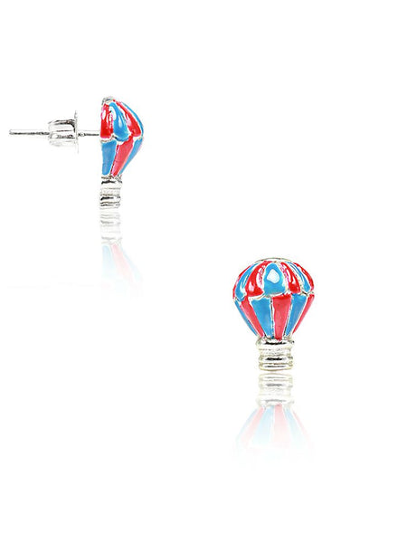 Parachute Stud Earrings - Sterling Silver - LeCalla