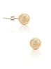 Golden Sparkle Stud Earrings - Sterling Silver - LeCalla