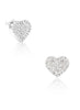 Hearty Hearts Stud Earring - Sterling Silver - LeCalla