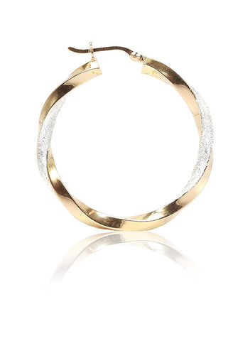 Gold Rush Hoop Earrings - Sterling Silver - LeCalla