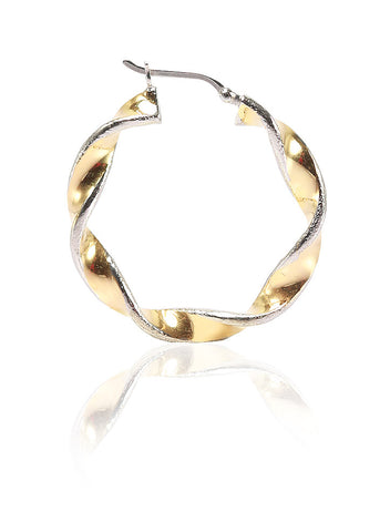 Twist-ed Hoop Earrings - Sterling Silver - LeCalla