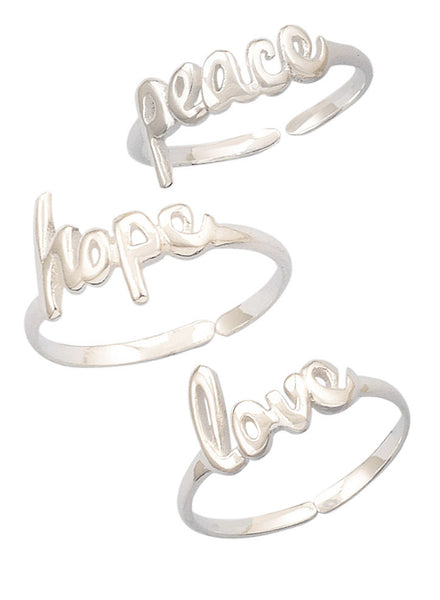 Inspirational Midi Ring Set - Trendy Jewelry - LeCalla