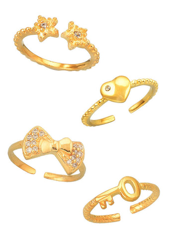 All Things Nice Midi Ring Set - Trendy Jewelry - LeCalla