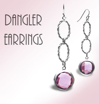 Designer<br/>Dangler Earrings<br/>925<br/>Silver