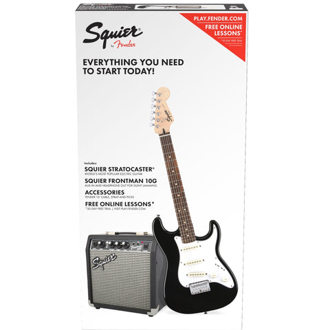 Squier Shortscale Stratocaster Pack