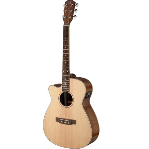 James Neligan Asyla series 4/4 cutaway auditorium acoustic-electric guitar with solid spruce top, lefthanded model