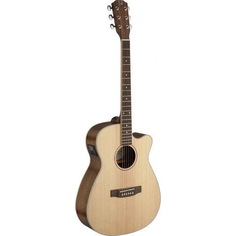 James Neligan Asyla series 4/4 cutaway auditorium acoustic-electric guitar with solid spruce top