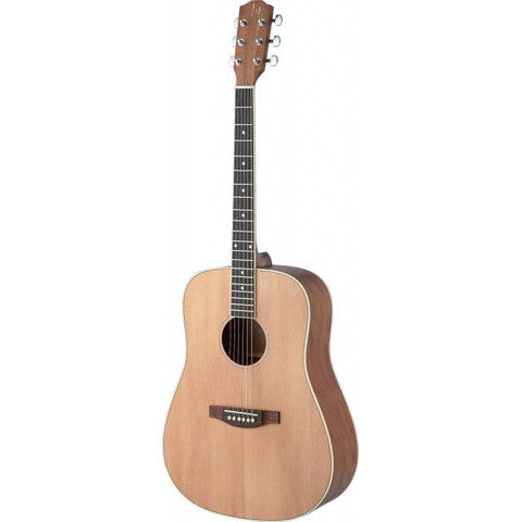 James Neligan Asyla series 4/4 dreadnought acoustic guitar with solid spruce top, lefthanded model