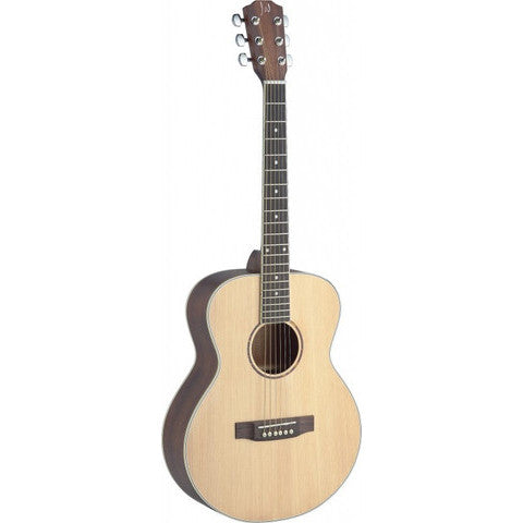 James Neligan Asyla series mini auditorium acoustic travel guitar with solid spruce top