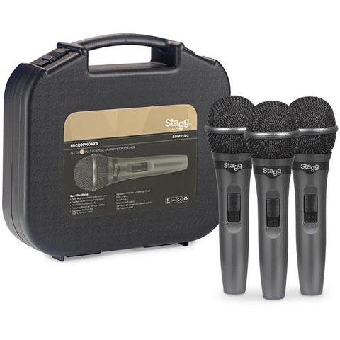 Stagg Set of 3 cardioid dynamic microphones