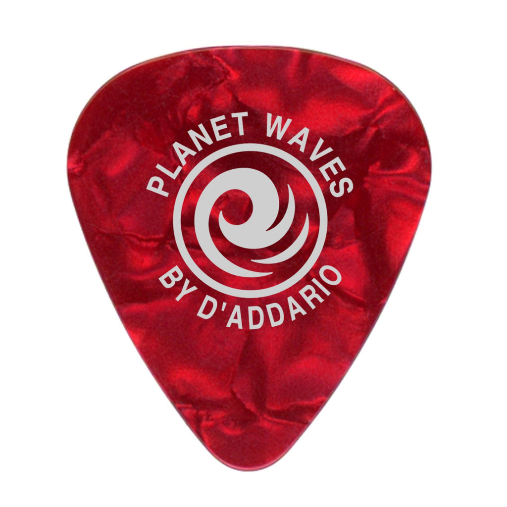 Planet Waves Red Pearl Celluloid Guitar Picks  1CRP7-100  100 pack, Extra Heavy