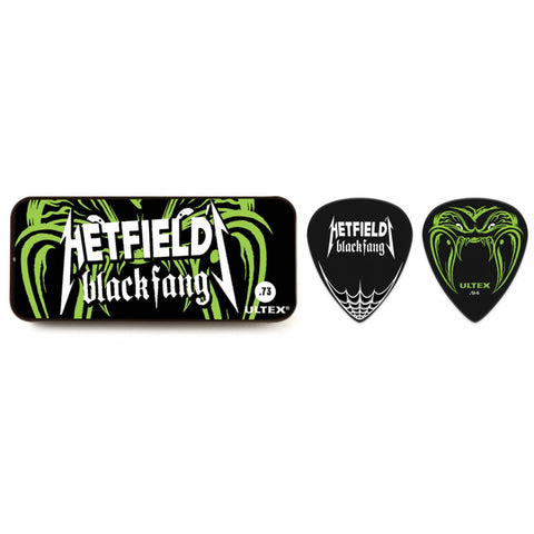 Dunlop Hetfield Black Fang Tin Plectrum PH112T73 6 PICKS - .73MM