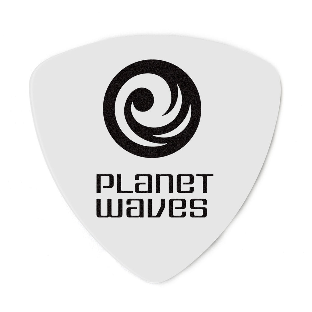 Planet Waves White-Color Celluloid Guitar Picks  2CWH4-25 25 pack, Medium, Wide Shape