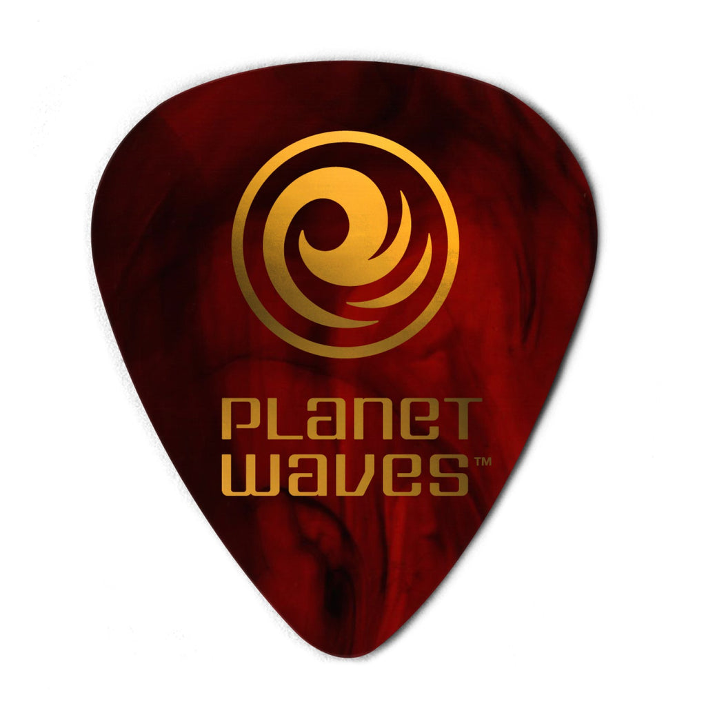 Planet Waves Shell-Color Celluloid Guitar Picks  1CSH6-100 100 pack, Heavy