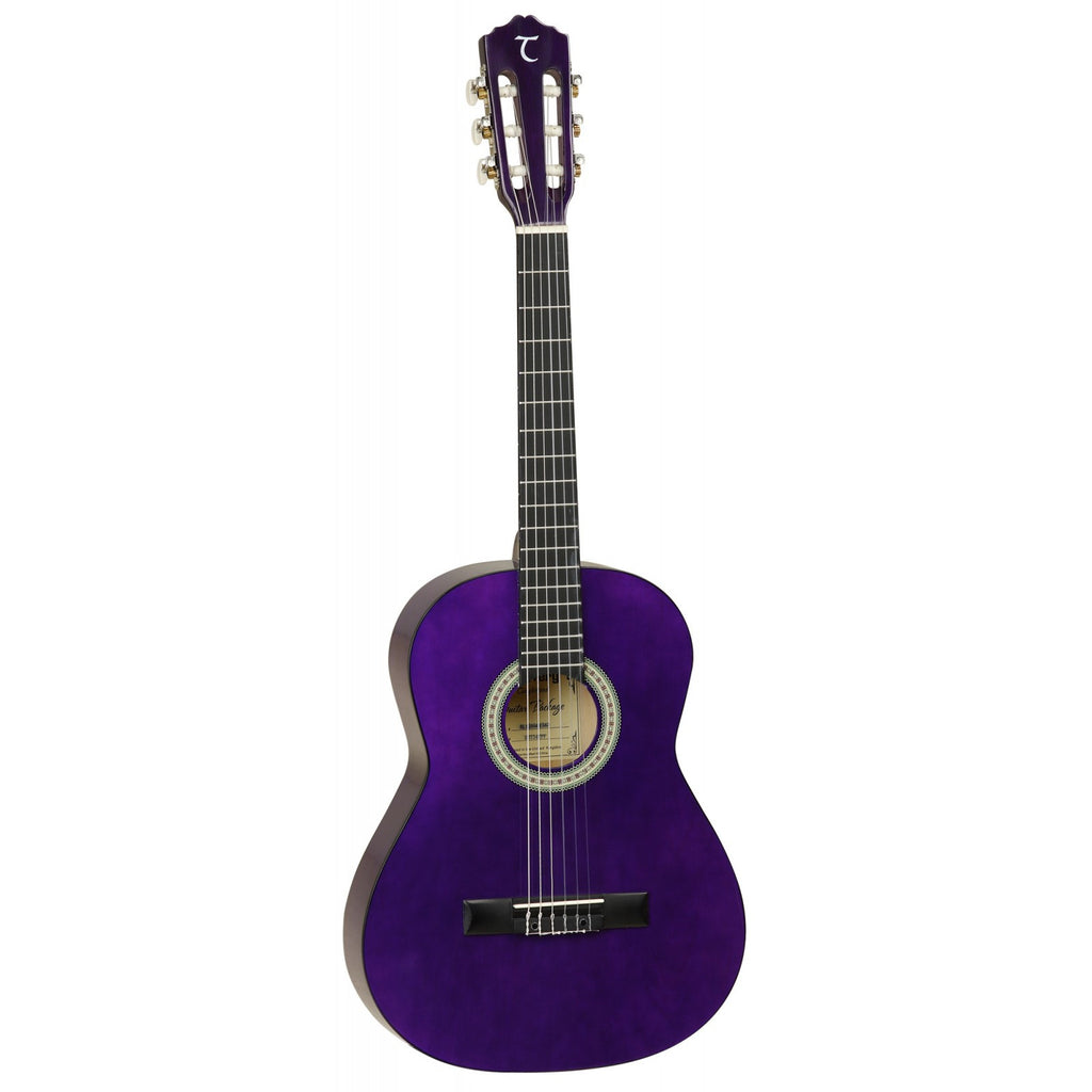 Tanglewood Discovery 3/4 Size Pack Classical/Nylon String Guitar DBT34 TP Transparent Purple Gloss