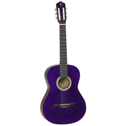 Tanglewood Discovery Pack Classical/Nylon String Guitar DBT44 TP Transparent Purple Gloss
