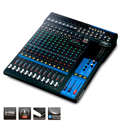Yamaha 16-Channel Analog Mixer MG16