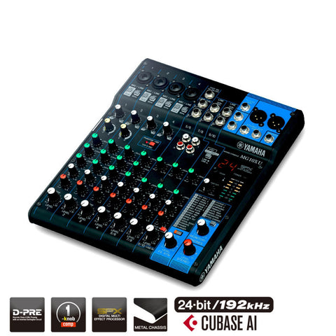 Yamaha 10-Channel Analog Mixer MG10XU
