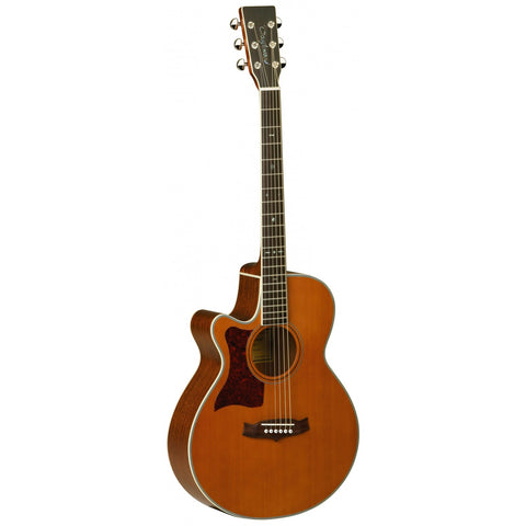 Tanglewood Sundance Left Handed Super Folk Electro-Acoustic Guitar TW45 NS E LH Natural Satin