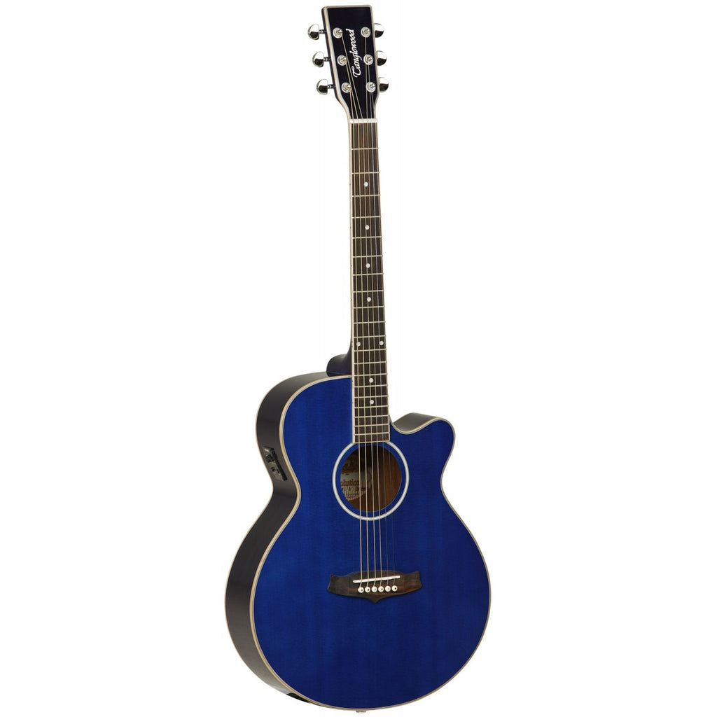 Tanglewood Evolution II Super Folk Electro-Acoustic Guitar TSF CE BL Blue Gloss