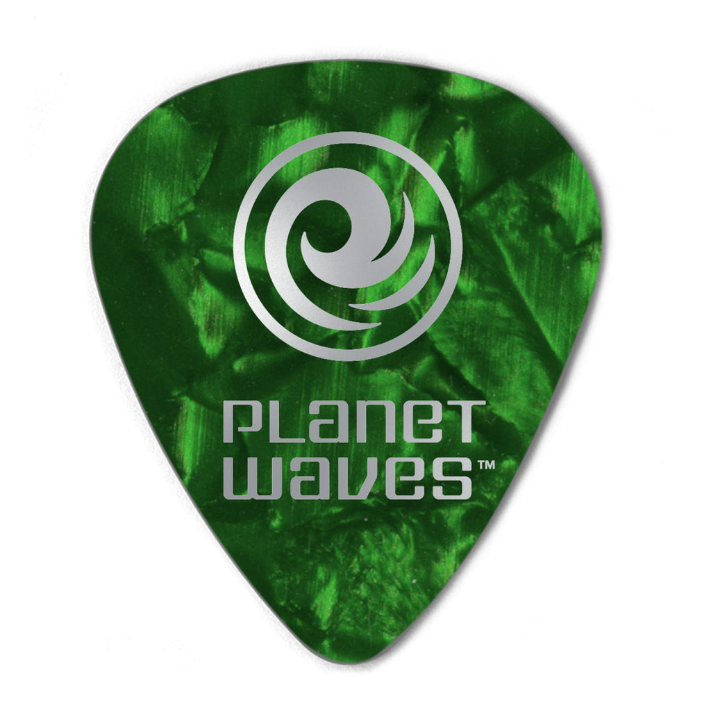 Planet Waves Green Pearl Celluloid Guitar Picks  1CGP7-10 10 pack, Extra Heavy