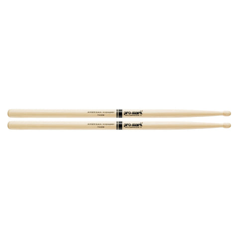 Promark Hickory Drumsticks  TX2BW Hickory 2B Wood Tip drumstick