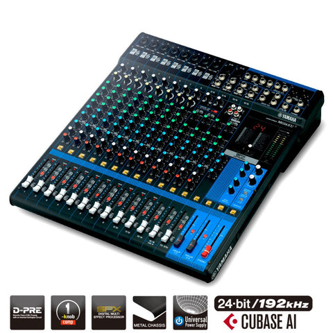 Yamaha 16-Channel Analog Mixer MG16XU