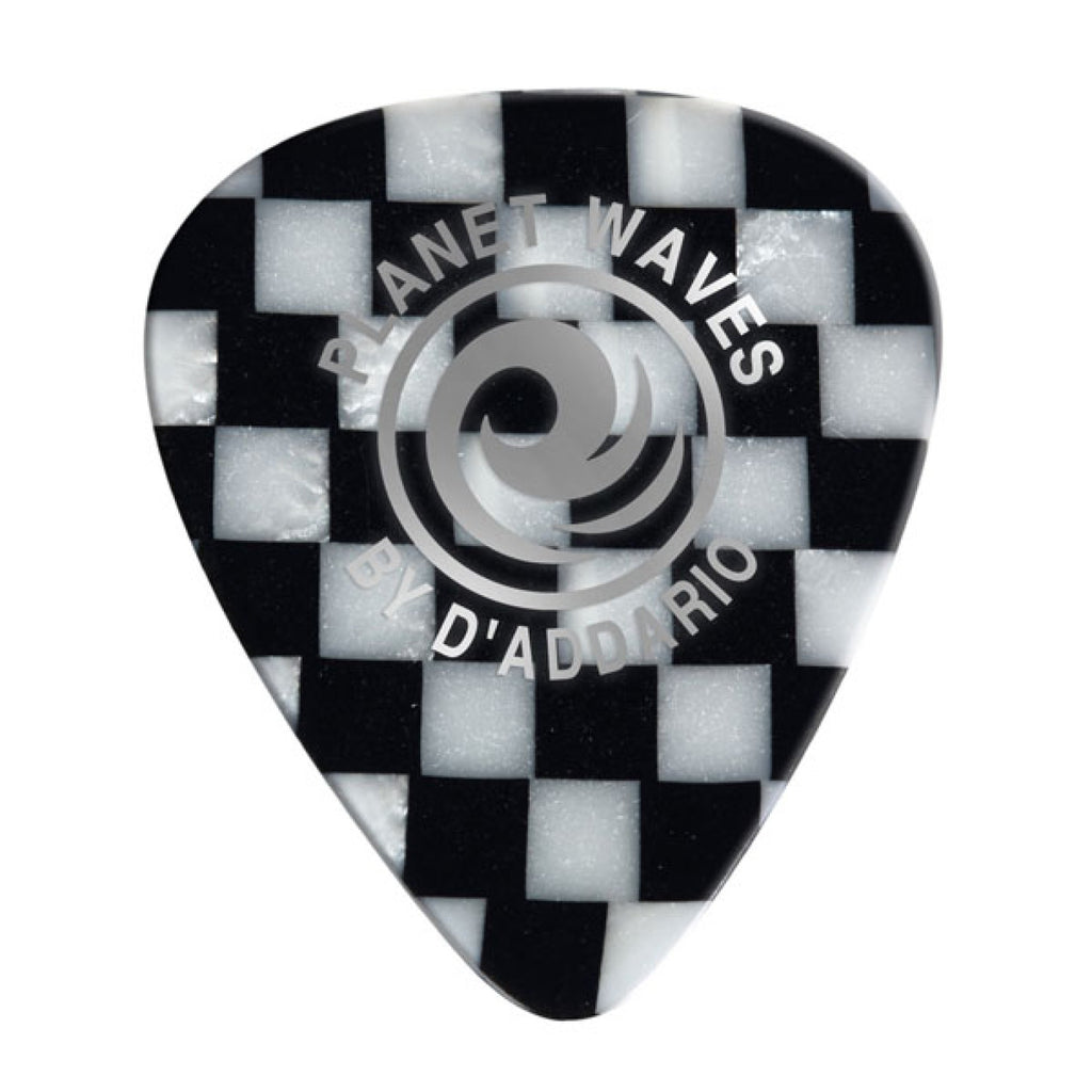 Planet Waves Checkerboard Celluloid Guitar Picks  1CCB6-10 10 pack, Heavy