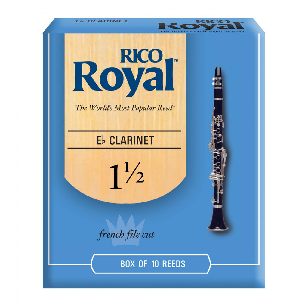 Royal   RBB1015 Eb Clarinet Reeds, Strength 1.5, 10-pack