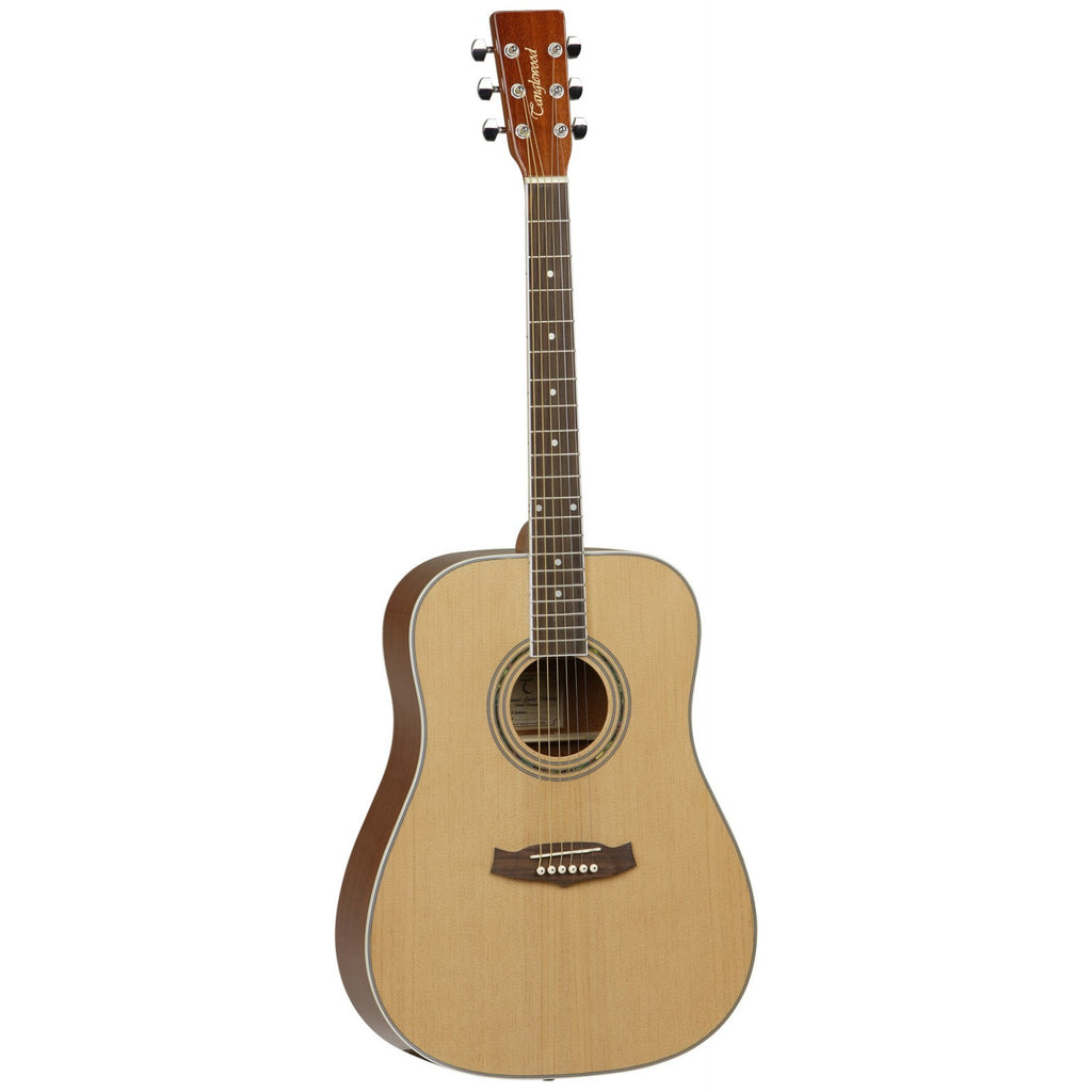 Tanglewood Discovery DLX Pack  Left Hand Acoustic Guitar DBTDLXDLH Natural Gloss