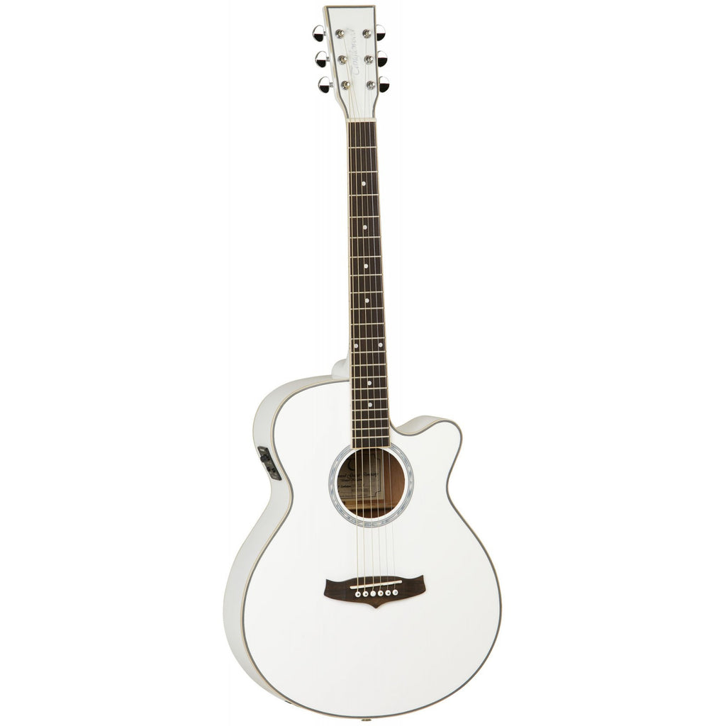 Tanglewood Evolution II Super Folk Electro-Acoustic Guitar TSF CE WH White Gloss