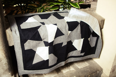 Cashmere Handmade geometric design Throw