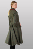 Swing Back Green Tweed Coat