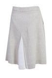 Natural Linen A Line Skirt Back