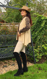 Lily Camel Herringbone 100% Cashmere Gilet