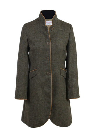 Green Herringbone Coat